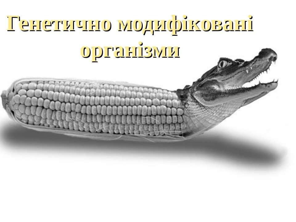 Генетично модифіковані організми