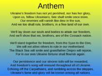 Anthem Ukraine's freedom has not yet perished, nor has her glory, Upon us, fe...