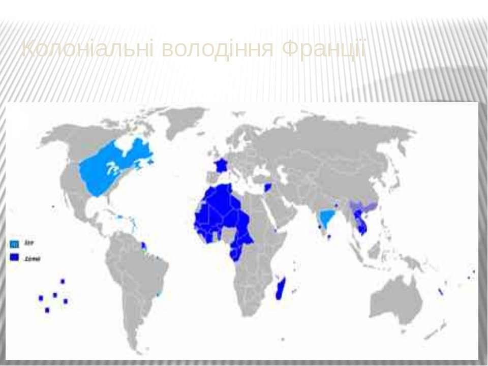 Колоніальні володіння Франції