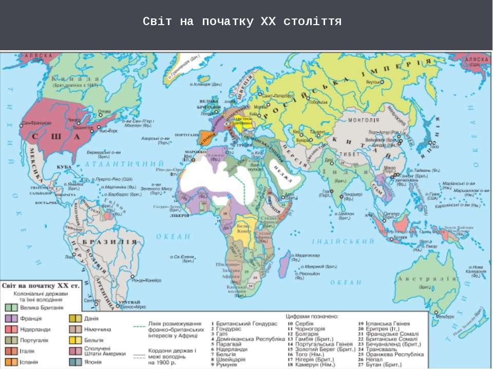 Світ на початку ХХ століття