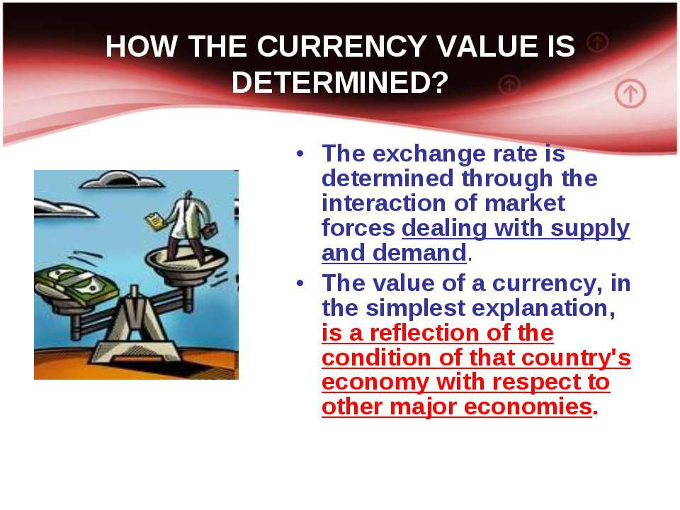 HOW THE CURRENCY VALUE IS DETERMINED? The exchange rate is determined through...