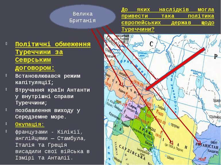 Політичні обмеження Туреччини за Севрським договором: Встановлювався режим ка...