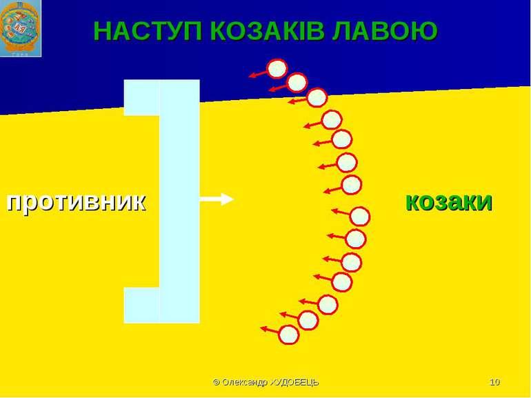 © Олександр ХУДOБЕЦЬ * НАСТУП КОЗАКІВ ЛАВОЮ противник козаки © Олександр ХУДO...