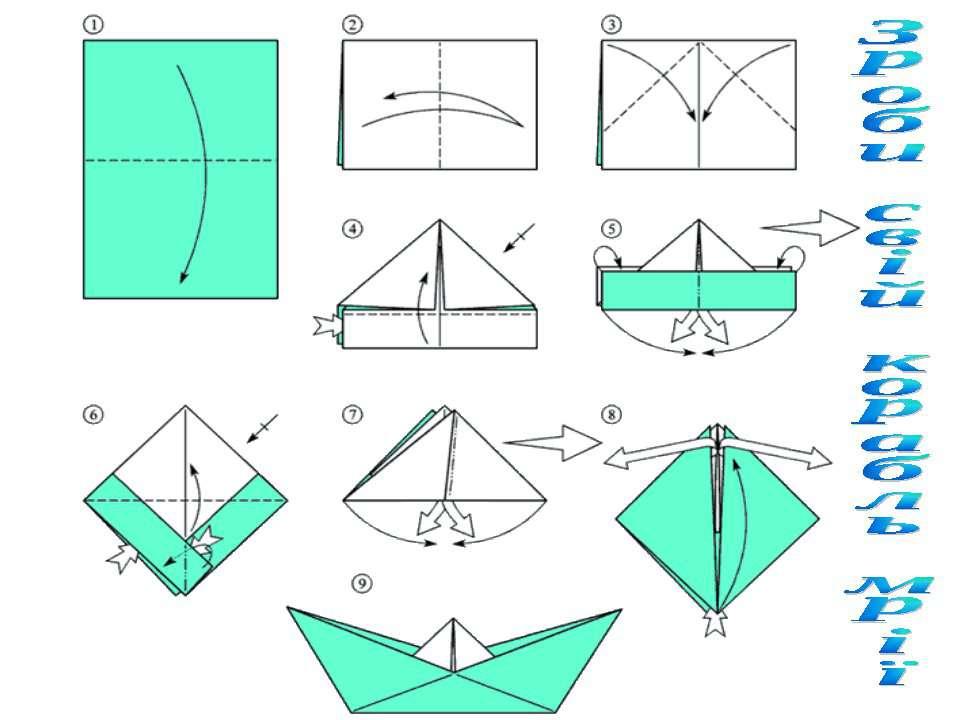 Как сделать корабль из бумаги своими руками схемы