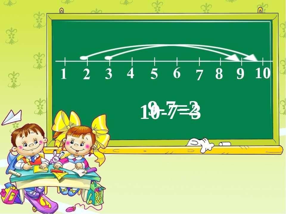 7 8 9 10 10-7=3 9-7=2