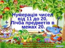 Нумерація чисел від 11 до 20. Лічба предметів в межах 20. Соколенко Олена Ана...