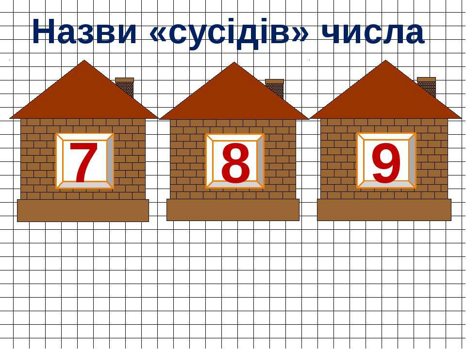 8 7 9 Назви «сусідів» числа