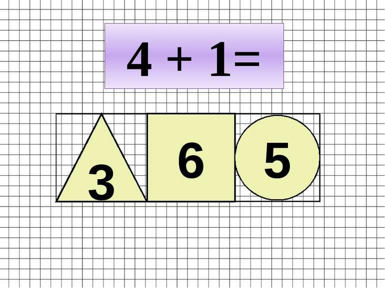 4 + 1= 3 6 5