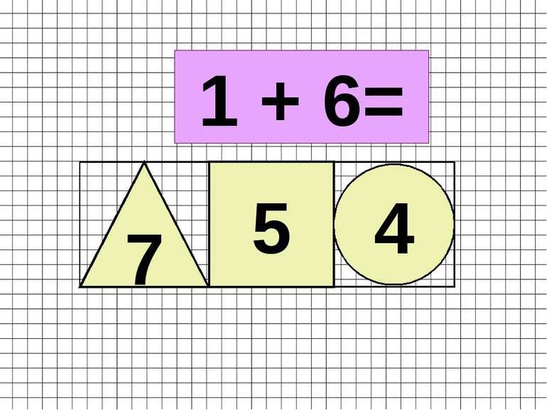 1 + 6= 7 5 4