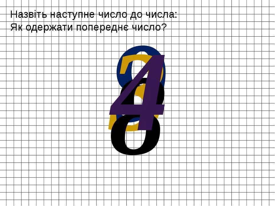 Назвіть наступне число до числа: Як одержати попереднє число? 9 3 8 4