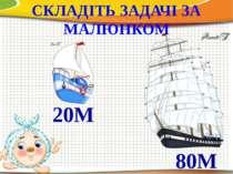 СКЛАДІТЬ ЗАДАЧІ ЗА МАЛЮНКОМ 80М 20М