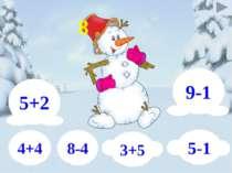 9-1 5+2 5-1 3+5 8-4 4+4 8