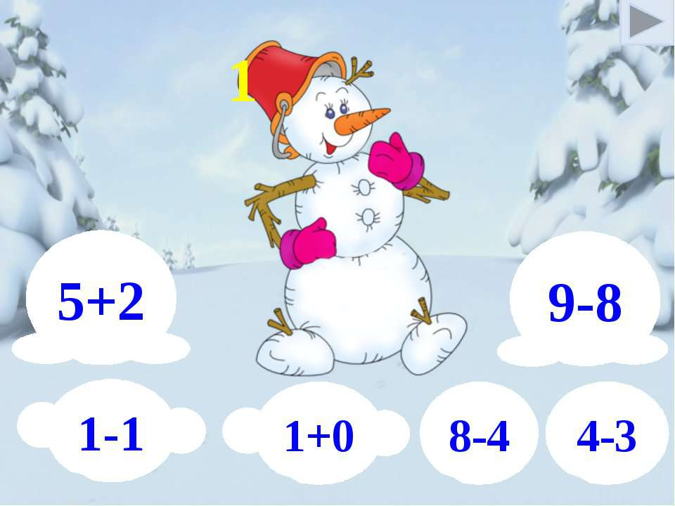 9-8 5+2 1-1 1+0 8-4 4-3 1