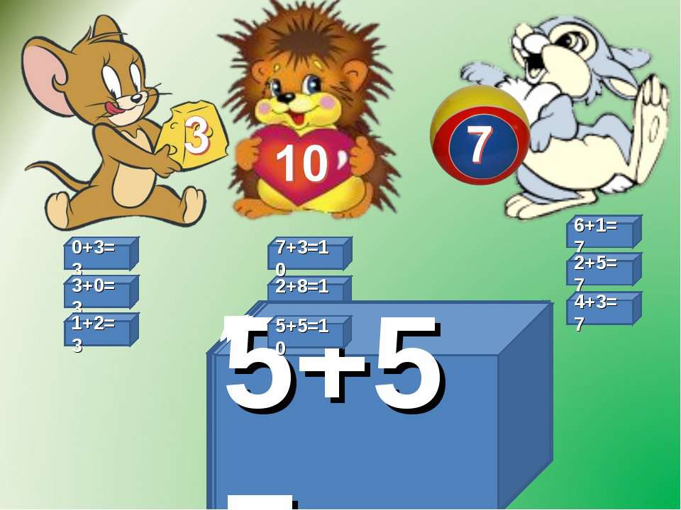 2+8=10 6+1=7 6+1= 0+3=3 0+3= 3+0= 3+0=3 7+3= 7+3=10 2+5= 2+5=7 4+3= 4+3=7 2+8...