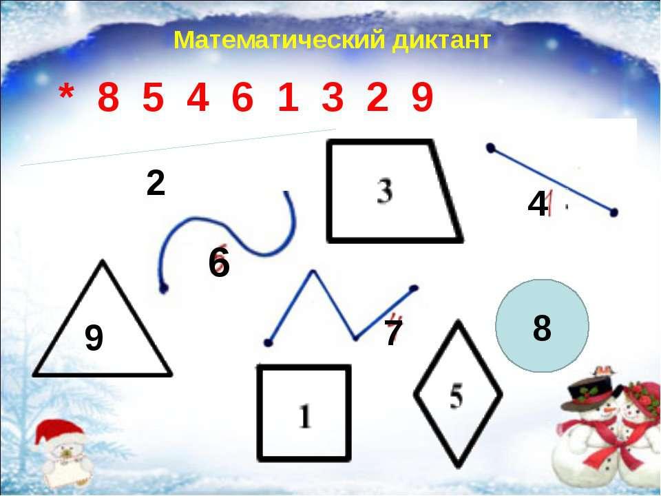 9 6 4 3 2 8 * 8 5 4 6 1 3 2 9 Математический диктант 7