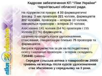 """Кадрове забезпечення КП """"Ліки України"""" Чернігівської обласної ради. На підпри..."""