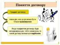 Поняття договору Предмет договору певна дія, але ця дія може бути тільки прав...