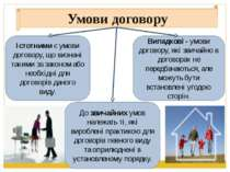 Умови договору Істотними є умови договору, що визнані такими за законом або н...