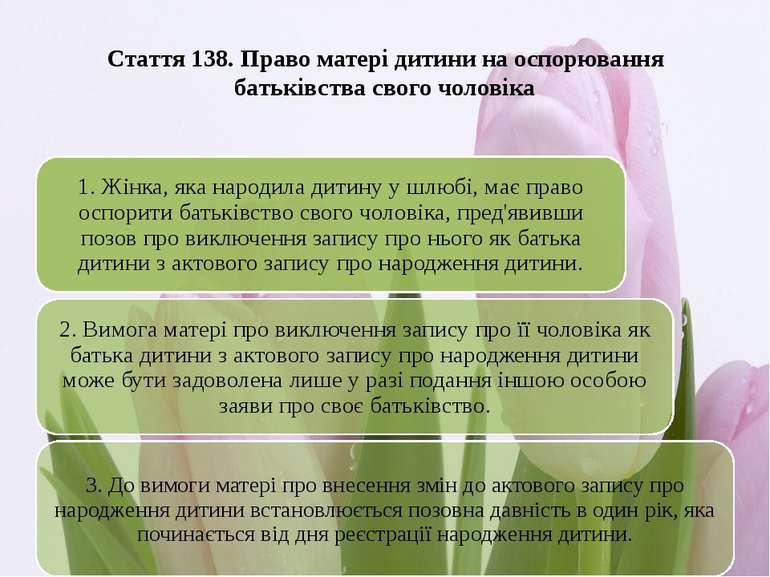 Стаття 138. Право матері дитини на оспорювання батьківства свого чоловіка