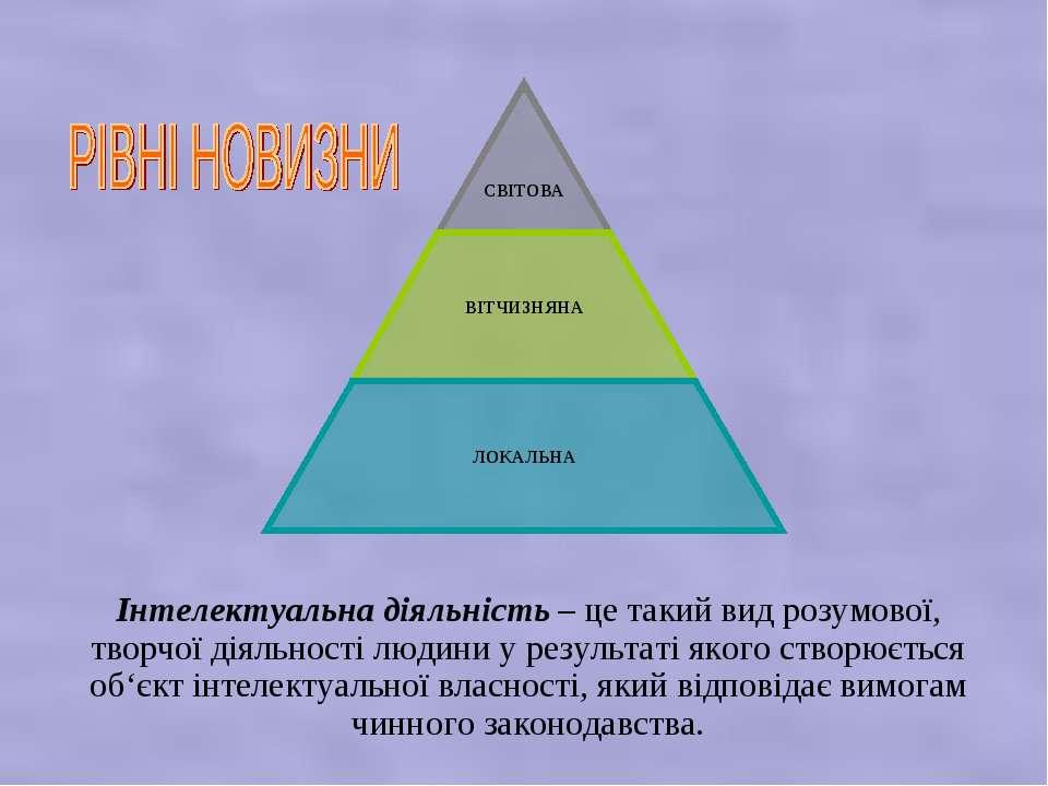 Інтелектуальна діяльність – це такий вид розумової, творчої діяльності людини...