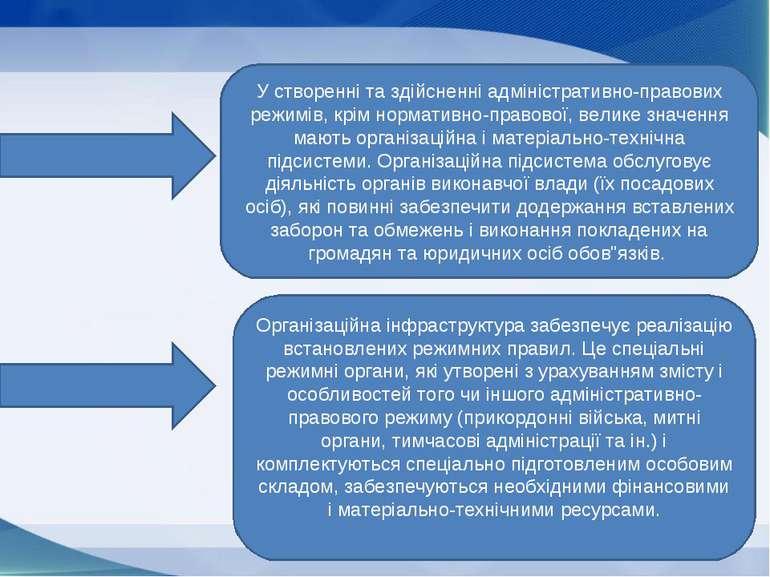 У створенні та здійсненні адміністративно-правових режимів, крім нормативно-п...