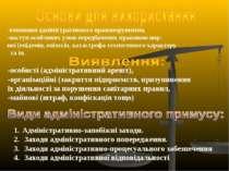 -особисті (адміністративний арешт), -організаційні (закриття підприємств, при...