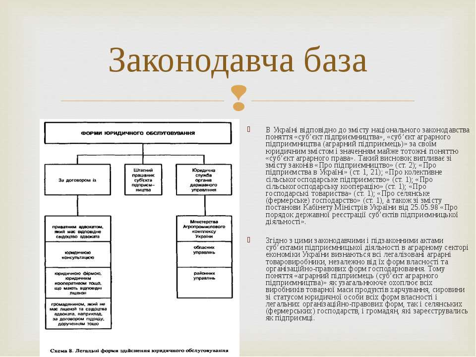 В Україні відповідно до змісту національного законодавства поняття «суб'єкт п...