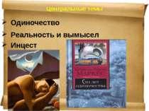 Центральные темы Одиночество Реальность и вымысел Инцест