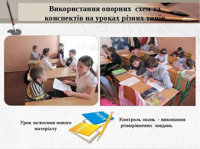 Урок засвоєння нового матеріалу Контроль знань - виконання різнорівневих завд...