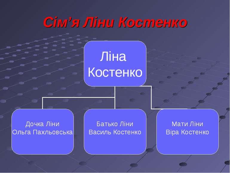 Сім'я Ліни Костенко