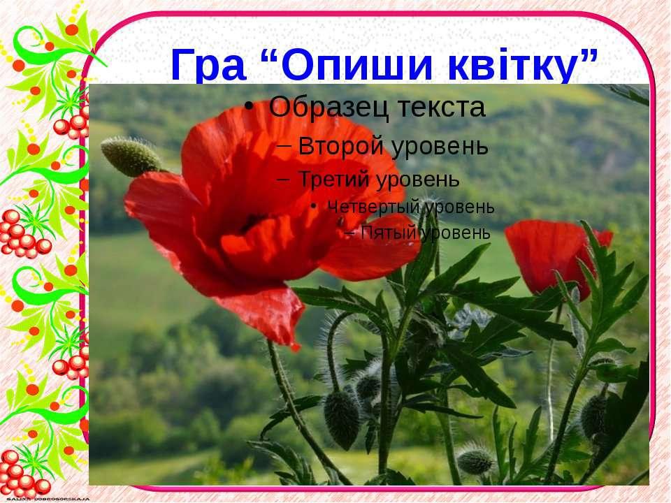 """Гра """"Опиши квітку"""""""