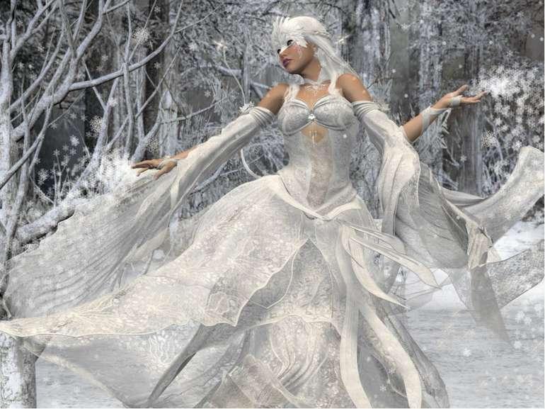 Білі сани налетіли, Скакуни в тих санях білі. В санях тих сидить цариця Білок...