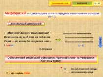 Амфібра хій — трискладова стопа з середнім наголошеним складом (U─U). Односто...