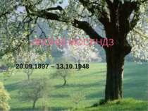 ЛЕОНІД МОСЕНДЗ 20.09.1897 – 13.10.1948