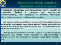 * Визначення лімітів коштів на тимчасові будівлі і споруди ДерждорНДІ Усередн...