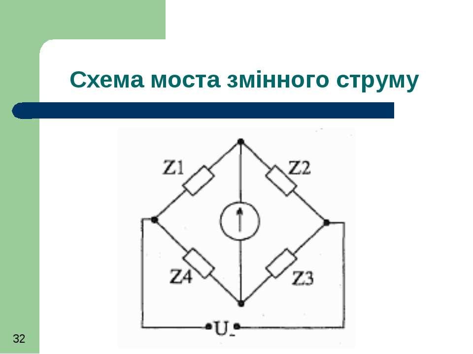 Схема моста змінного струму