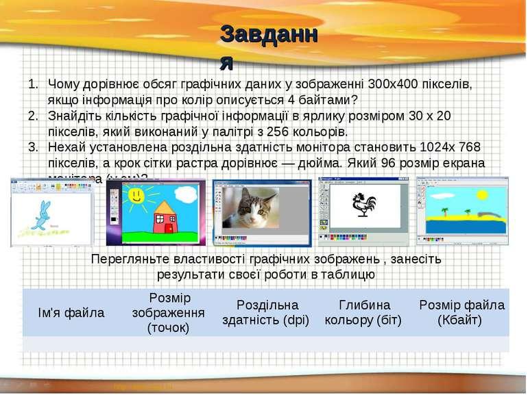 Чому дорівнює обсяг графічних даних у зображенні 300x400 пікселів, якщо інфор...