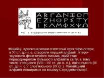 Фінікійці, вдосконаливши єгипетські ієрогліфи-літери, в XI ст. до н. е. створ...