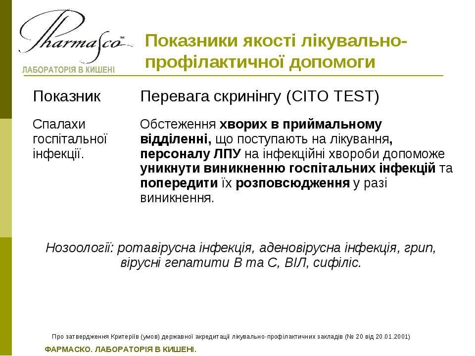 Показники якості лікувально-профілактичної допомоги Про затвердження Критерії...