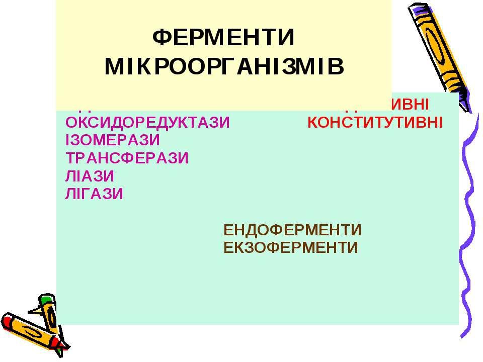 ФЕРМЕНТИ МІКРООРГАНІЗМІВ
