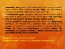 Виконавчу владу мав здійснювати виборний голова автономії, якого повинні були...