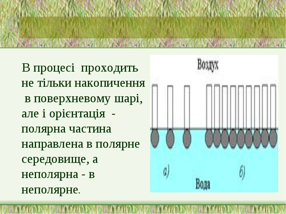 В процесі проходить не тільки накопичення в поверхневому шарі, але і орієнтац...