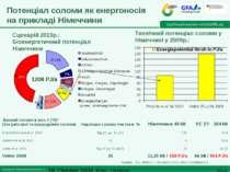 Потенціал соломи як енергоносія на прикладі Німеччини Сценарій 2010р.: Біоене...