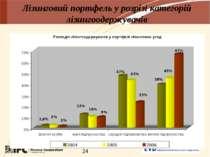 Лізинговий портфель у розрізі категорій лізингоодержувачів