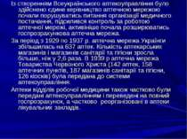 Із створенням Всеукраїнського аптекоуправління було здійснено єдине керівницт...