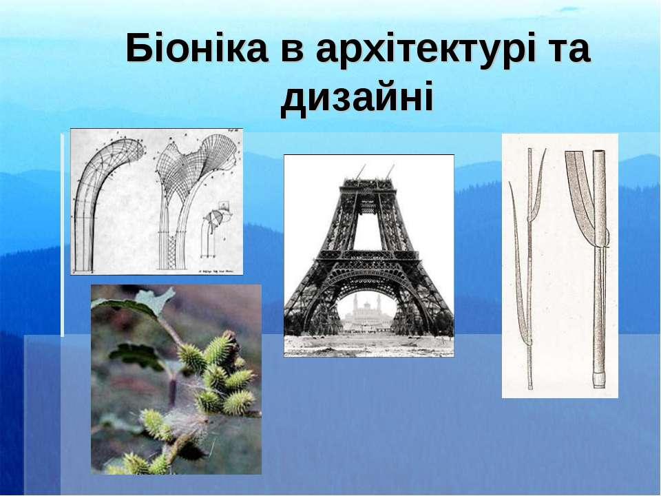 Біоніка в архітектурі та дизайні