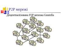 P2P мережі Децентралізована P2P мережа Gnutella