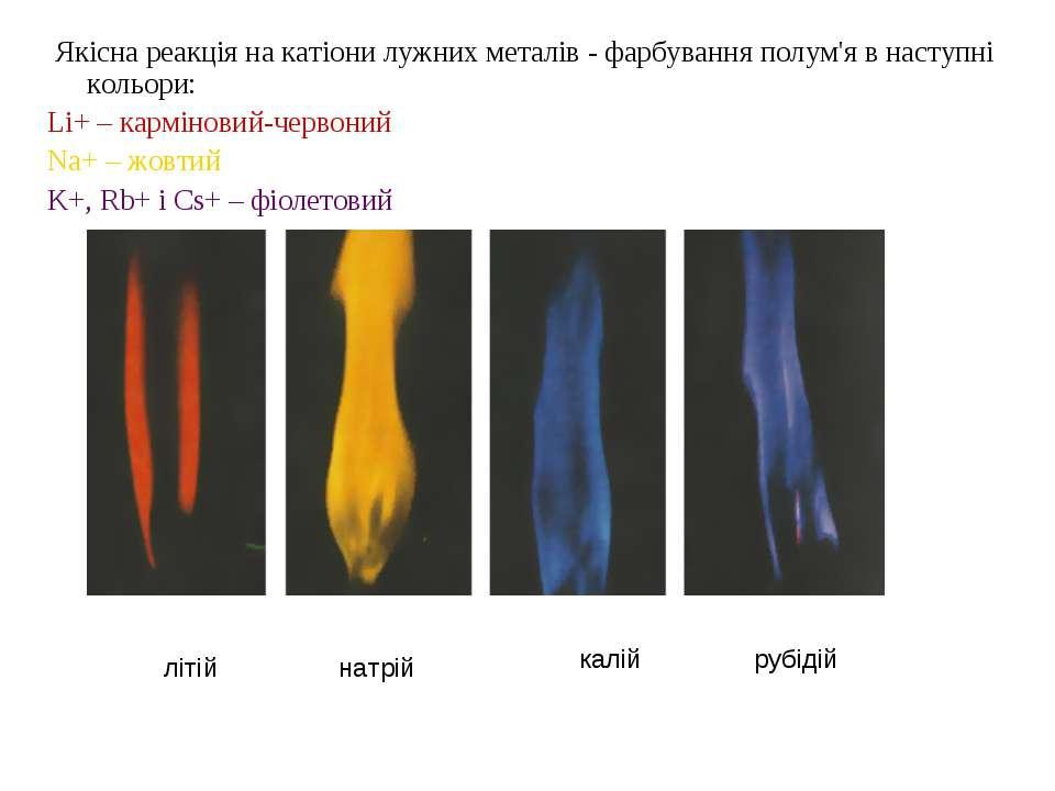 літій натрій калій рубідій Якісна реакція на катіони лужних металів - фарбува...
