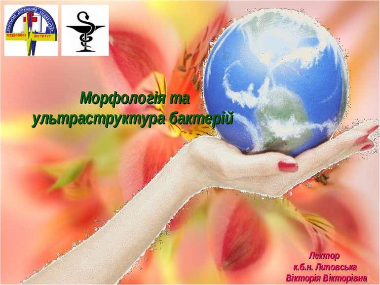 Лектор к.б.н. Липовська Вікторія Вікторівна Морфологія та ультраструктура бак...