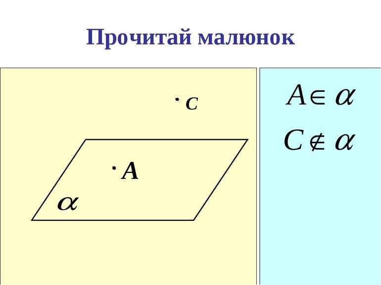 Прочитай малюнок A С